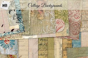 Collage Style Backgrounds
