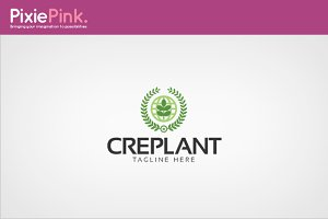 Cre Plant Logo Template