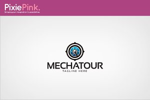 Mecha Tour Logo Template