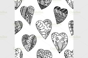 hand-drawn seamless pattern.