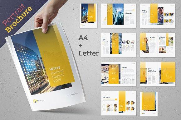 Wizzy Brochure Pack Brochure Templates Creative Market