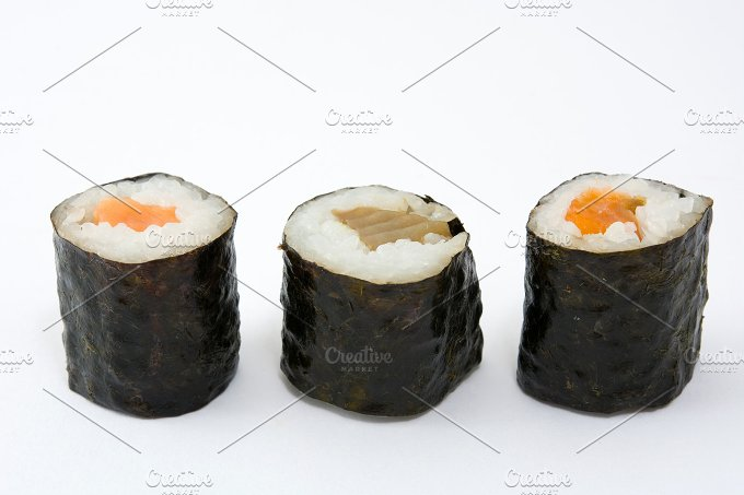 Sushi. Isolated photo - Food & Drink