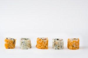 Sushi. Isolated photo