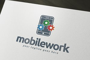 Mobile Work Logo Template