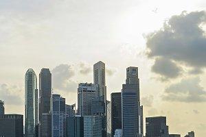 Singapore with beautiful sky