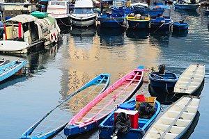 Boats in Aberdeen village, HK