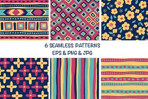 Boho ethnic patterns