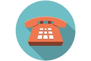 Desk Phone icon flat