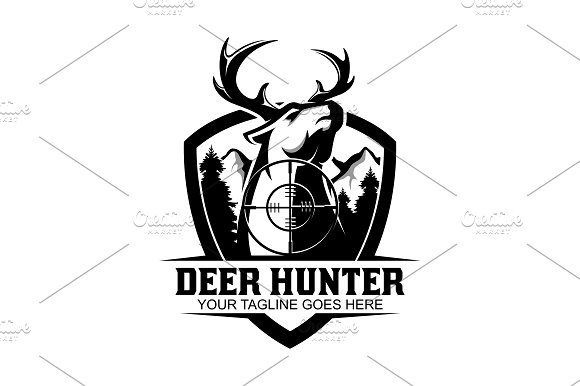 Deer Hunter Logo Templates Creative Market