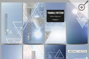 Blurred vector flyers with triangles
