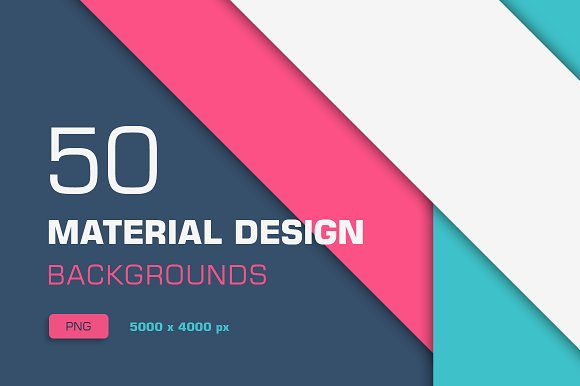 Creative Graphics Design Background: 50 Material Design Backgrounds