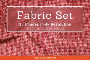 Fabric Textures Backgrounds Set
