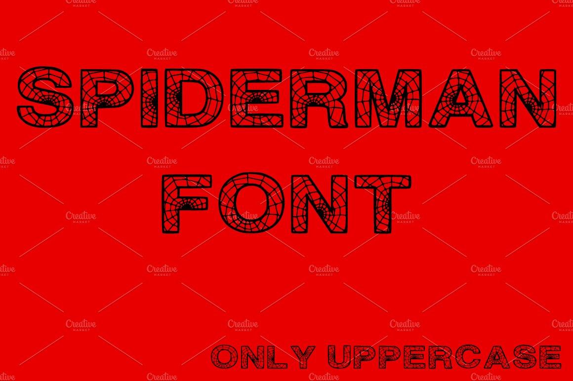 Spiderman Font Symbol Fonts Creative Market
