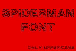 Spiderman Font