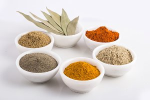 Various dried Indian spices