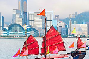 Hong Kong sailboat