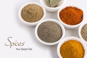 spices and herb powders