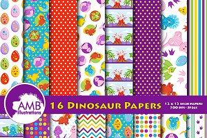 Dinosaur Digital Papers AMB-1204