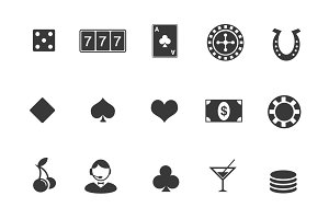 15 Gambling and Casino Icons