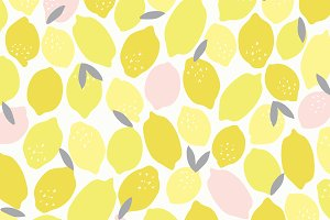 Pink Lemonade Seamless Pattern