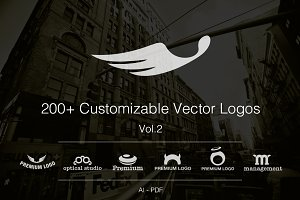 Vol.2 +200 Fully Customizable Logos