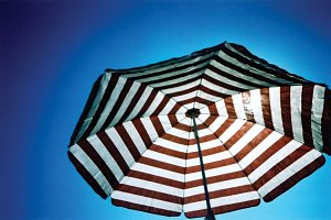 Parasol in the sun