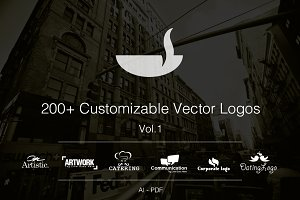 Vol.1 +200 Fully Customizable Logos