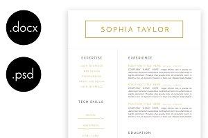 Sophia Taylor Minimalist Resume
