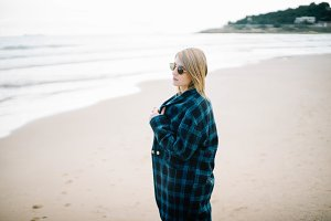 woman seaside portrait