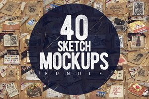40 Sketch Mockups Bundle [60%OFF]