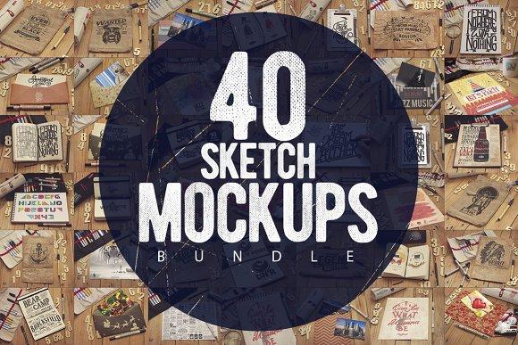 Bundle Sketch Mockups x40