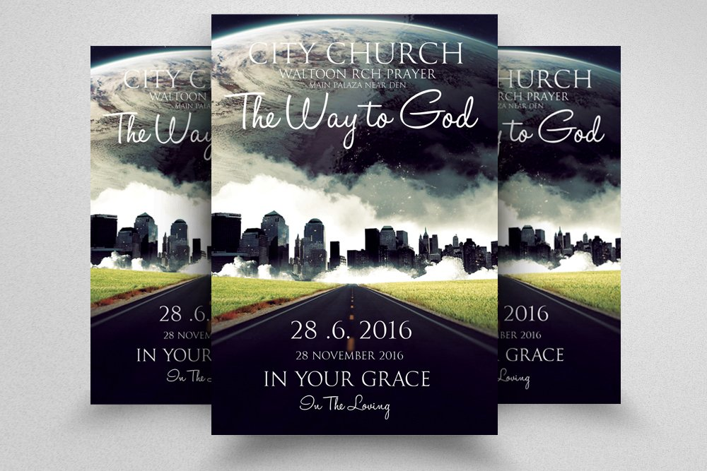 jesus city church flyer template flyer templates creative market