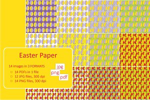 Colorful Easter Paper Patterns