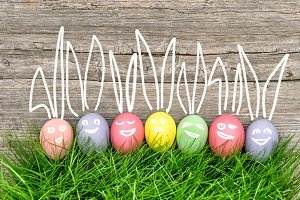 Funny Easter eggs decoration