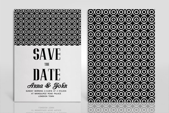 double sided wedding invitation card templates creative market