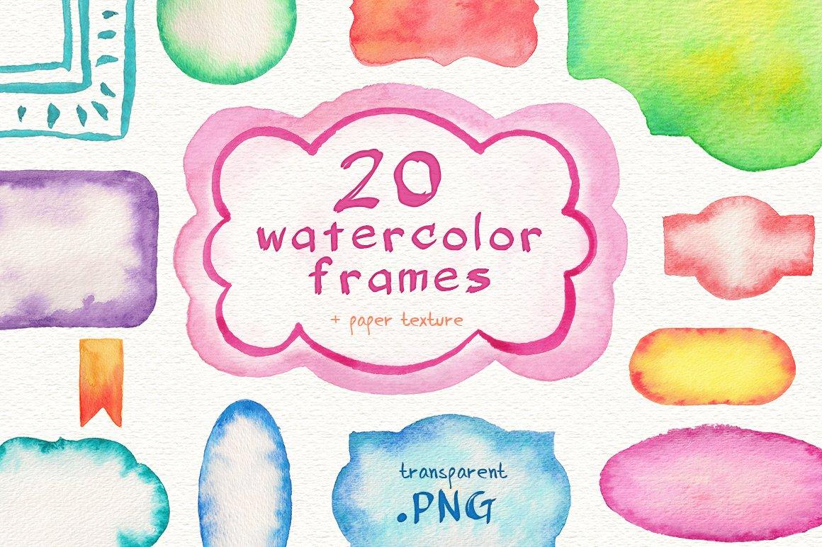 Watercolor frames ~ Graphics ~ Creative Market