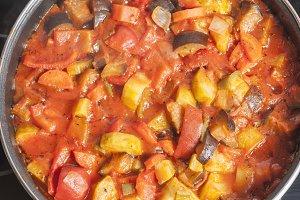 Vegetable stew pisto spanish