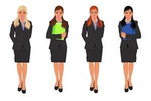 businesswoman, vector, illustration