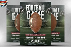 American Football Game Flyer