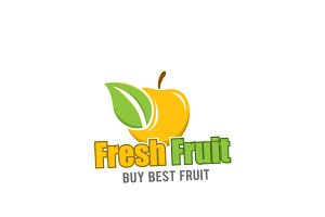 Fresh Fruit Logo Template