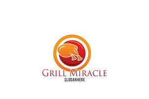 Grill Miracle Logo Template