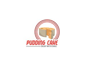 Pudding Cake Logo Template