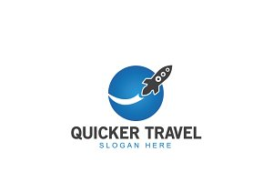 Quicker Travel Logo Template
