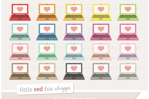 Heart Laptop Clipart