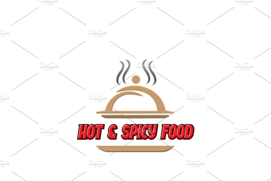Hot Spicy Food Logo Template Logo Templates Creative