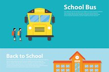 Back to School flat style design