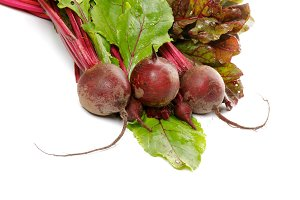 Bunch of Beet Roots and Tops
