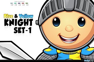 Blue & Yellow Knight - Set 1