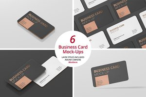 Business Card Mockup Round Corner