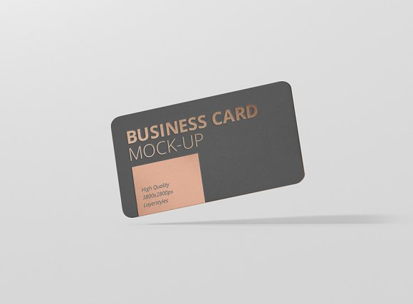 Business card mockup round corner product mockups creative market reheart Image collections